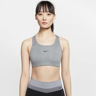 Nike Women's Medium-Support 1-Piece Pad Sports Bra Swoosh