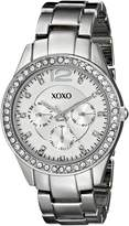 XOXO Women's XO5476 -Tone Bracelet With Rhinestones Accent Bezel Watch