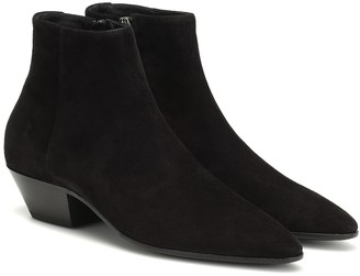 Saint Laurent Jonas 45 suede ankle boots