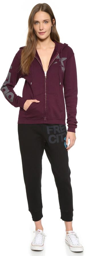 Freecity Large Sherpa Zip Sweatshirt