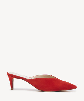 Sole Society Women's Maleah Mules Pumps Deep Coral Size 5 Suede From