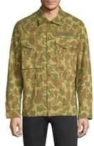 Camouflage Flight Shirt Jacket