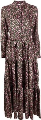 La DoubleJ Floral Shirt Maxi Dress