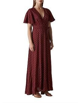 Whistles Woodblock Print Wrap Dress