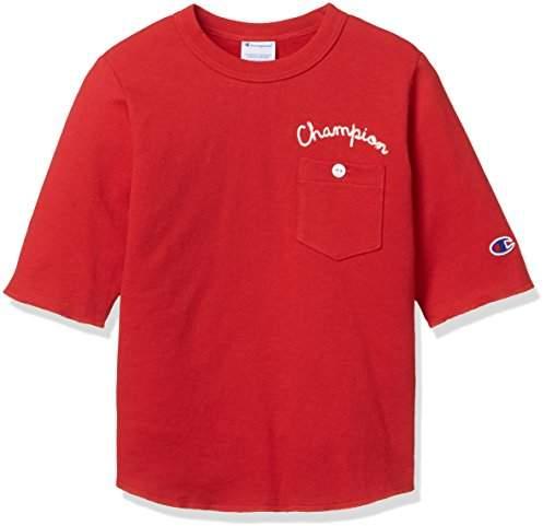 Champion (チャンピオン) - [チャンピオン] ポケット ハーフスリーブTシャツ CS4543 ボーイズ レッド 日本 130 (日本サイズ130 相当)