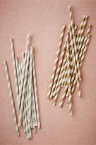 BHLDN Metallic Swirl Straws (25)
