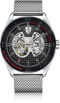 Ferrari Gran Premio Silver Tone Stainless Steel Men's Bracelet Watch
