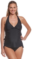 Prego Swimwear Maternity Solid Retro Halter Tankini Set 8113774