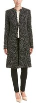 Oscar de la Renta Crocheted-trim Wool-blend Coat.