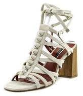 Kensie Sadira Block Heel Open Toe Suede Sandals.