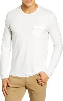 Billy Reid Contrast Stitch Long Sleeve Pocket T-Shirt