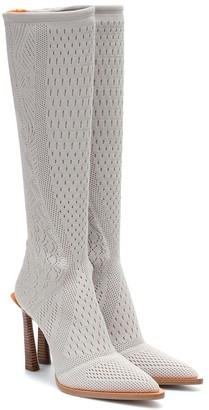 Fendi FFrame jacquard knee-high boots