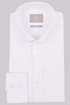 Savoy Taylors Guild Regular Fit White Single Cuff Twill Shirt