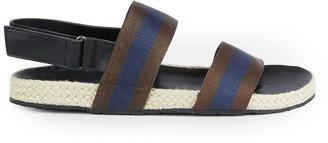 Saks Fifth Avenue Foley Striped Espadrille Ankle-Strap Sandals