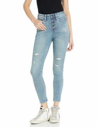 Goodthreads Amazon Brand Women's Exposed-Fly High-Rise Skinny Jean