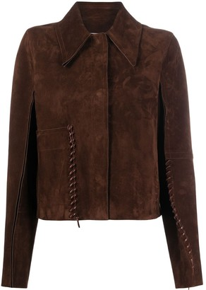 Acne Studios Whipstitch Suede Jacket