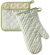 Williams-Sonoma Williams Sonoma Bay Stripe Mitt & Potholder Set, Sage
