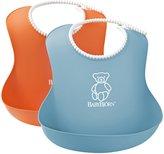 BABYBJÖRN Soft Bib - Orange/Turquoise - 2 ct