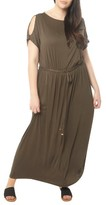 Dorothy Perkins Plus Size Women's Jersey Cold Shoulder Maxi Dress