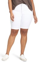 NYDJ Plus Size Women's Briella Stretch Denim Shorts