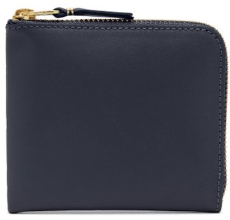 Comme des Garcons Zip-around Leather Wallet - Navy