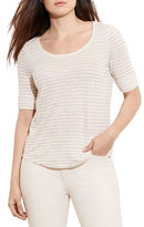 Lauren Ralph Lauren Plus Striped Linen Tee