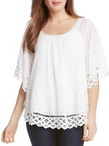 Karen Kane Lace-Trim Angel Top