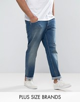 Tommy Hilfiger Plus Bleecker Slim Jeans In Mid Wash