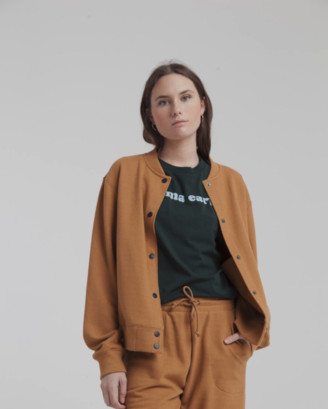 Thinking Mu - Brown Champ Jacket - large | organic cotton