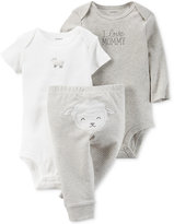 Carter's Baby Boys' or Baby Girls' 3-Pc. Little Lamb Bodysuits & Pants Set