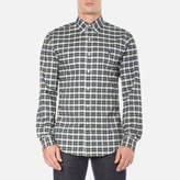 Polo Ralph Lauren Men's Long Sleeve Checked Stretch Oxford Shirt Green/White