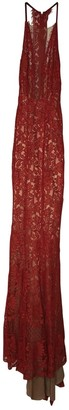 Galvan Red Lace Dress for Women