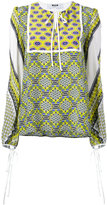 MSGM multi-print longsleeved blouse - women - Silk - 42