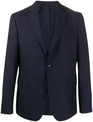 Officine Generale Single-Breasted Fitted Blazer