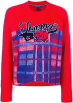 Tommy Hilfiger checkered logo sweater