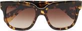 Oliver Peoples Brinley D-frame tortoiseshell acetate sunglasses