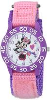 Disney Girl's 'Minnie Mouse' Quartz Plastic and Nylon Casual Watch, Color:Pink (Model: WDS000165)