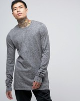 Asos Crew Neck Jumper With Extreme Sleeves