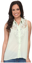 Roper 9610 Solid Georgette Sleeveless Blouse
