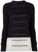 Rick Owens panelled jumper - women - Cotton/Polyamide/Mohair/Wool - S
