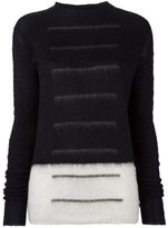 Rick Owens panelled jumper - women - Mohair/Polyamide/Wool/Cotton - S