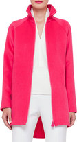 Akris Zip-Front Cashmere Parka Jacket, Rose