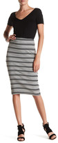 Three Dots Mayra Striped Skirt