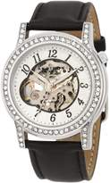 Akribos XXIV Women's AKR475BK Open Heart Skeleton Automatic Dress Watch
