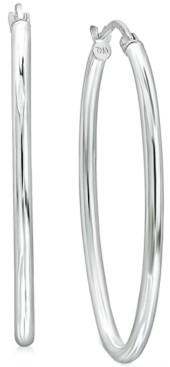 "Giani Bernini Medium Polished Oval Tube Hoop Earrings in Sterling Silver, 1.1"", Created for Macy's"