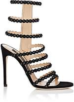Sergio Rossi Women's Crystal-Embellished Suede Multi-Strap Sandals