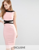 Vesper Paneled Color Block Pencil Dress