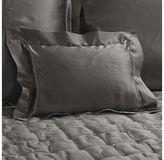 Ethan Allen Damaris Gray Silk Boudoir Pillow
