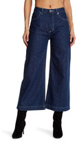 Neuw Paris Denim Cropped Wide Leg Jeans