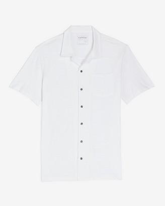 Express Solid Slub Short Sleeve Shirt